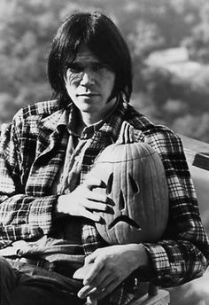 Neil Young and his sad pumpkin, 1970