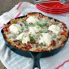 Veggie skillet lasagna recipe