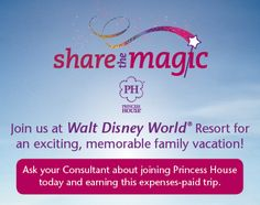 "Princess House is heading to the Walt Disney World® Resort in Central Florida next spring! Ask your Consultant how you and your family can join us. Just thinking about this exciting trip has us singing ""Zip-a-dee-doo-dah"" all day long! Do you have a favorite Disney song? Please share what it is and why."