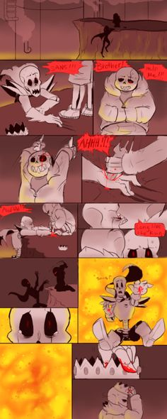 """(Hehe. Papyrus """"fell"""". Get it? The fell universe? Eh EH?...................................I'm a moster)"""