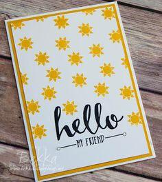 Stampin' Up! UK Feeling Crafty - Bekka Prideaux Stampin' Up! UK Independent Demonstrator: Hello My Friend Sunshine Card