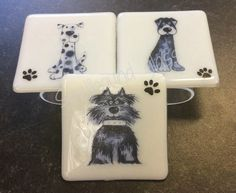 Dog coaster made by Spellbound Glass Coasters, Messages, Dog, Glass, Design, Diy Dog, Drinkware, Coaster, Corning Glass