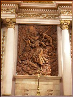 Interior, detail of altar, Chapel -- Templo de San Diego, Aguascalientes