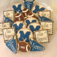 Memphis Tigers Football Cookies!