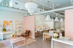 Pink cool nail bar in Raleigh