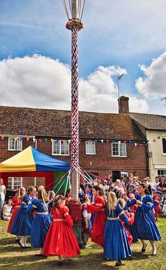 dancing around the maypole did this as a child