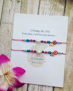 Mommy and Me bracelet Set. Pulsera de Madre e Hija.