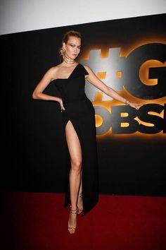 Karlie Kloss à la soirée L'Oréal Gold Obsession