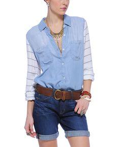 Rails 'Harper' Mixed Medium Long Sleeve Button Down Shirt  Southmoonunder.com