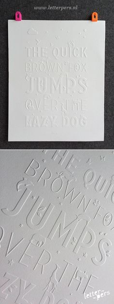 Letterpress poster pressed without ink by Letterpers on Etsy, €39.95