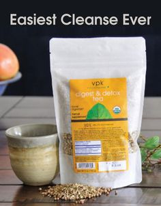 Easiest New Year's cleanse ever. Digest & Detox tea makes detox easy. Brew up this blend of cumin, coriander, and fennel to help improve nutrient absorption, stimulate the lymphatic system, and flush toxins through the urinary tract. To start the new year off right, sip it throughout the day for a few weeks and focus on eating clean.