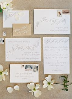 Neutral colored wedding invitations simply designed #neutral #wedding
