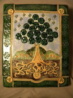 Another beautiful piece. Happy Saint Patrick's Day to All!  www.joycepottery.etsy.com