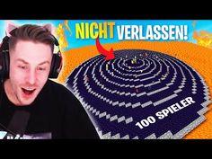 Wer von 100 Spielern zuletzt den Kreis verlässt bekommt 100 €! - YouTube Minecraft Server, Glitch, Xbox One, Youtube, Movies, Movie Posters, Movie, Mousepad, Abandoned
