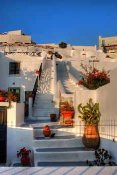 Stairways | Sunset on Santorini | Chris | Flickr