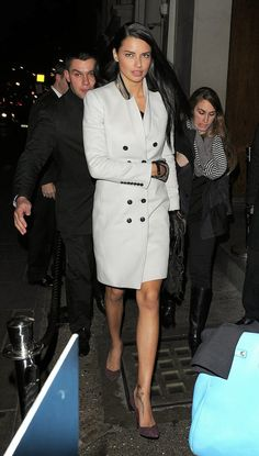 The Front Row View: Adriana Lima is Seen Arriving at Nobu Restaurant in London Claudia Schiffer, Top Models, Irina Shayk, Nobu Restaurant, Adriana Lima Style, Brazilian Models, Celebs, Celebrities, Mannequin
