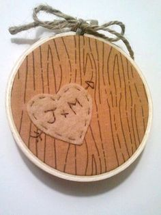 Homey Heart Personalized Embroidery Hoop by heartfeltbymsmegas, $11.00