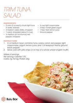 Need a quick healthy lunch idea? The Bulu Crew is loving this tuna salad recipe! #tuna #healthy #recipe #weightloss #lowcalorie #delicious | bulubox.com