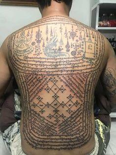 Sak Yant Tattoo, Ancient Symbols, Sexy Tattoos, Tattoo Designs, Ink, Tattoo Art, Thailand Tattoo, India Ink, Tattooed Guys