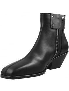 Rick Owens Cyclops Black Leather Cuban Heel Chelsea Boots | HERVIA SS16 Mens Shoes