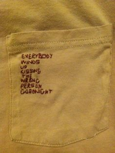 Stitching little phrases. Cute idea