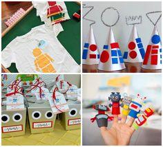 Brindes de aniversário infantil tema robôs