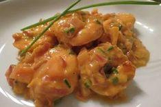 Scampi Diabolique - Lien Life is good ! I Want Food, Love Food, Dutch Recipes, Cooking Recipes, Tapas Recipes, Recipies, Scampi Recipe, Healthy Summer Recipes, Fish Dishes