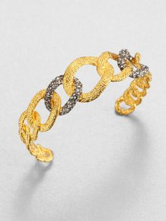 alexis bitter cuffs | Alexis Bittar Cordova Antique Crystal Cuff in (gold-silver) - Lyst