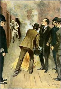 """Sidney Paget for """"The Adventure Of The Norwood Builder"""" from the Strand Magazine"""