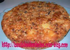 Gâteau aux nectarines et son crumble