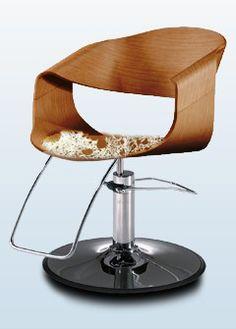 Salon Wood & Pony hair Chair