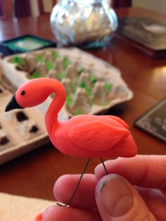 Flamingo fondant