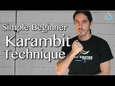 KARAMBIT Beginner Technique - Beginner Martial Arts - Kali Knife Technique