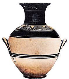Anfora a decorazione geometrica. ca X secolo a.C. Terracotta dipinta. Atene, Museo del Ceramico