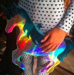 holographic unicorn purse