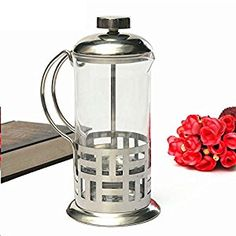 Glass Coffee Pot 350ml Kettle French Press Style