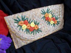40s 50s Tiki Purse Handbag Woven Floral Straw Rafia Hula Island Hawaii Envelope Clutch Back Hand Strap Dancing Swing Rockabilly Jive Lindy by LikewiseVintage on Etsy