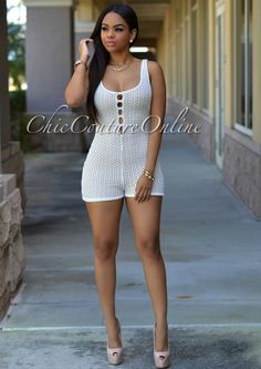 Chic Couture Online - Karisma Off-White Crochet Nude Illusion Romper, $45.00 (http://www.chiccoutureonline.com/karisma-off-white-crochet-nude-illusion-romper/)