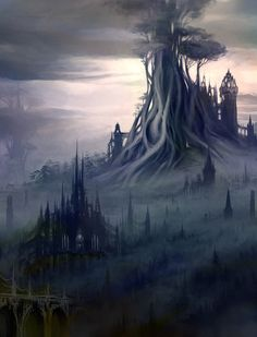 Why are fantasy scapes so much lovelier than real world places. I know there are beautiful places in reality too but there's just something about the colours and the architecture and the misty stillness of fantasy realms that's just entirely enchanting. ♥