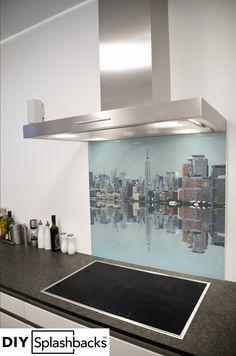 Glass Splashbacks for Kitchens Printed Glass Splashbacks, Capital City, New Kitchen, Dining Table, Skyline, Design Ideas, York, Interior Design, Prints