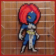 Mystique (Raven Darkholme) perler beads by mastablasta3