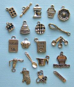 Deluxe Baking Charm Collection Antique Tibetan Silver 20 Different Charms - COL075. $8.75, via Etsy.
