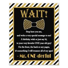 """Mr. ONEderful Guest Book Sign - 8"""" x 10"""" Photo"""