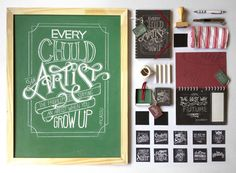 Chalkboard Lettering Stationery Set