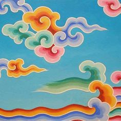 The artist is Tashi Mannox (and this painting is called Rainbow Cloud Study;)