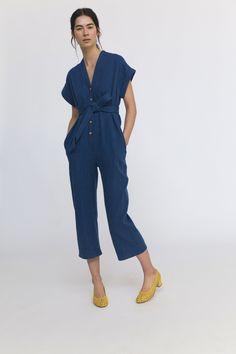 e87786c1b77 AIKO jumpsuit (washed indigo sashiko fabric)