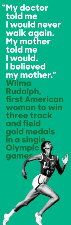 During Rio 2016, we're honoring Wilma Rudolph—a groundbreaking athlete who overcame childhood illness and a leg brace to become one of our country's greatest track stars. At the 1960 games in Rome, Wilma broke barriers as the first American woman to win three track and field gold medals in a single Olympic games. Today, Wilma's legacy on the track inspires Olympic dreams for a new generation of young women and men.