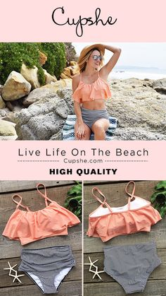 Live life on the beach~ You need a adorable bikini now! You're ready for anything that might come your way on the heated beach. Only $27.99 & short shipping time. Cupshe.com has exclusive pieces waiting for you to take home.