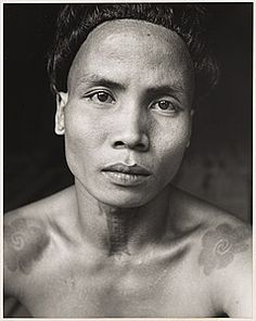 Hedda MORRISON Germany 1908 – Australia 1991 Movements: Active China 1933-1946 Iban portrait, Sarawak (Man with tattoo) c.1950s No.95,96,97,98,148 Photography, Photograph, gelatin silver photograph Bequest of Hedda Morrison 1992 Accession No: NGA 92.1027 Subject: Body decoration: Tattoo