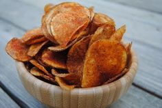 BBQ Potato Chips - Shugary Sweets  I'd like to try the seasoning mix on baked sweet potato chips